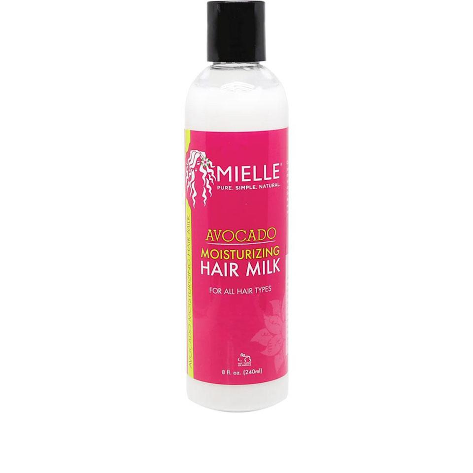 """<p>Not only does Mielle Organics' Avocado Moisturizing Hair Milk keep curls moisturized as a leave-in right out of the shower, it also works as a curl rejuvenator on dry <a href=""""https://www.allure.com/gallery/revive-next-day-curls?mbid=synd_yahoo_rss"""" rel=""""nofollow noopener"""" target=""""_blank"""" data-ylk=""""slk:day-two or day-three hair"""" class=""""link rapid-noclick-resp"""">day-two or day-three hair</a>. Apply to the mid-lengths and ends for <a href=""""http://www.allure.com/beauty-trends/blogs/daily-beauty-reporter/2015/03/curly-hair-washing-routine.html?mbid=synd_yahoo_rss"""" rel=""""nofollow noopener"""" target=""""_blank"""" data-ylk=""""slk:curls that feel brand-new"""" class=""""link rapid-noclick-resp"""">curls that feel brand-new</a>.</p> <p><strong>$13</strong> (<a href=""""https://shop-links.co/1708573800829498442"""" rel=""""nofollow noopener"""" target=""""_blank"""" data-ylk=""""slk:Shop Now"""" class=""""link rapid-noclick-resp"""">Shop Now</a>)</p>"""