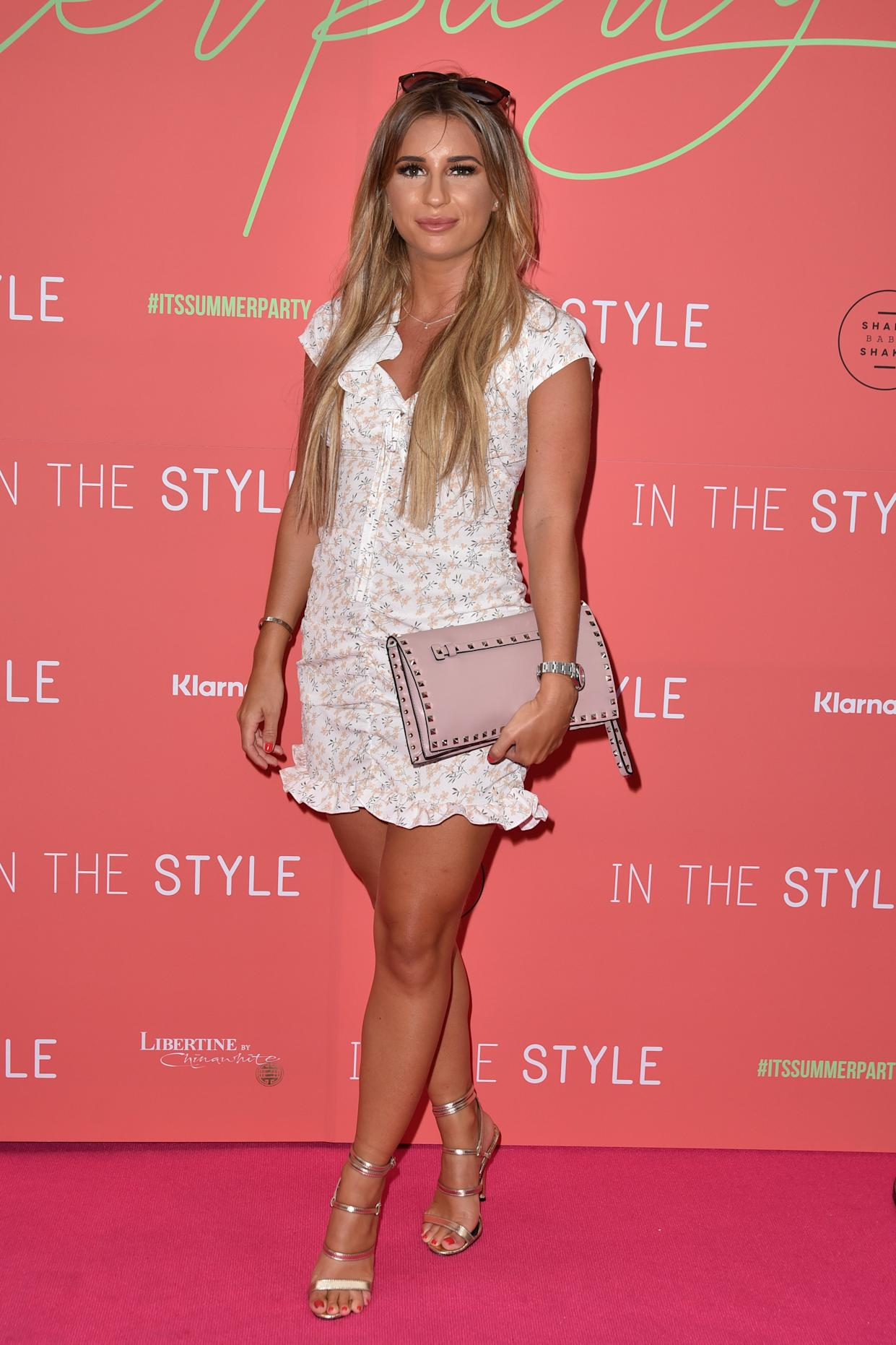 Dani Dyer attends the 'In The Style' Summer Party at Libertine in London, England. (Photo by James Warren / SOPA Images/Sipa USA)