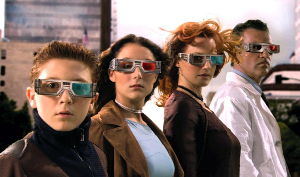 """<p><strong>Paramount+'s Description:</strong> """"In the third installment of the popular <strong>Spy Kids</strong> trilogy, Carmen is kidnapped by an evil Toymaker (Sylvester Stallone) and imprisoned inside a virtual reality game. It's up to Juni to venture into the game and save his sister from the villain's clutches.""""</p> <p><a href=""""https://www.paramountplus.com/movies/spy-kids-3d-game-over/9Q6TcONGFVvBIHWrvVfs5H6_ftUt09jz/"""" class=""""link rapid-noclick-resp"""" rel=""""nofollow noopener"""" target=""""_blank"""" data-ylk=""""slk:Watch Spy Kids 3-D: Game Over on Paramount+ here!"""">Watch <strong>Spy Kids 3-D: Game Over</strong> on Paramount+ here!</a></p>"""