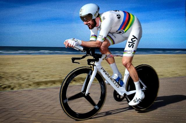 Team Sky have been under scrutiny since it was revealed UKAD was looking into a claim former star rider Bradley Wiggins was injected with triamcinolone at the end of the Criterium du Dauphine in 2011 (AFP Photo/Yorick JANSENS)