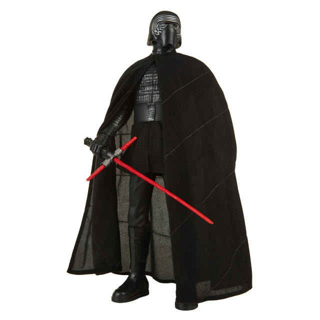 "<p>""After a stinging defeat by the scavenger Rey, Kylo Ren refocuses his efforts on destroying the Resistance. Though his powers in the dark side have increased, Kylo still has much to prove to his shadowy mentor, Supreme Leader Snoke."" $19.99 (Photo: Jakks Pacific) </p>"