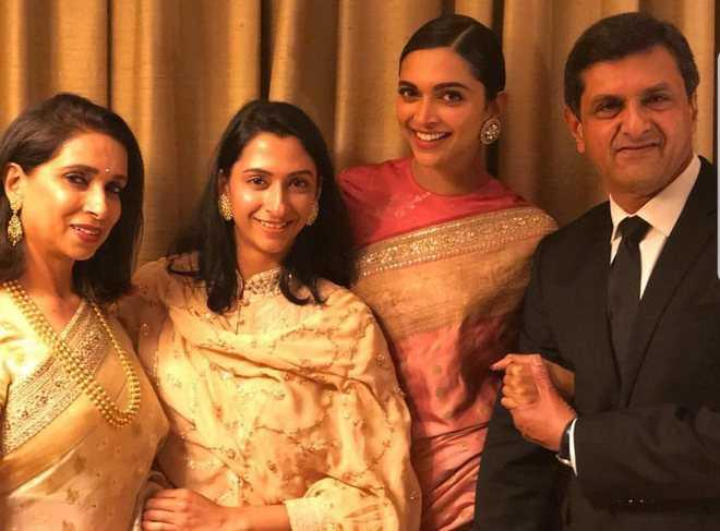 Deepika Padukone with her family.