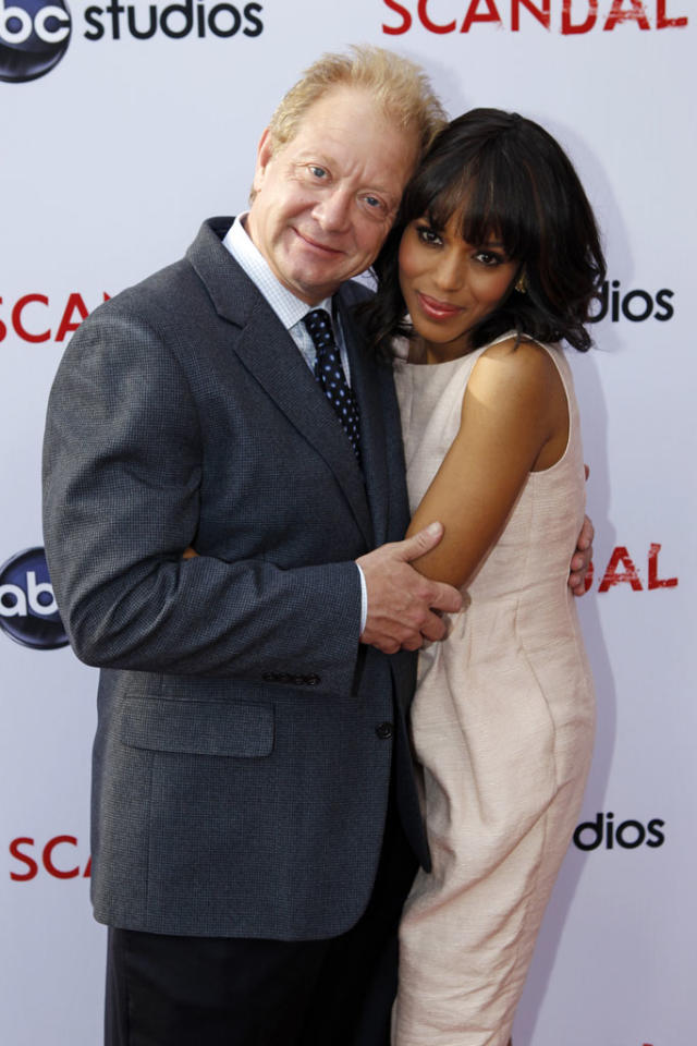 """Jeff Perry and Kerry Washington attends """"An Evening with Scandal"""" at The Academy of Television Arts & Sciences for their season finale table read and Q&A on Thursday, May 16, 2013."""
