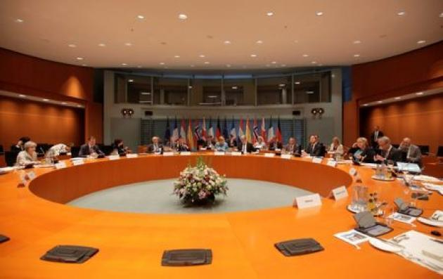 Meeting in Berlin, EU countries display united front ahead of G20