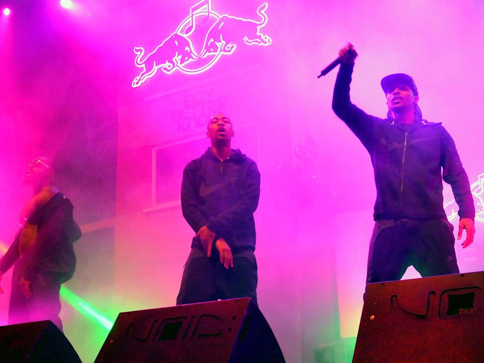 Solo 45, Wiley and JME of Boy Better Know perform on stage at Red Bull Culture Clash in Earls Court on 30 October 2014Getty Images for Red Bull