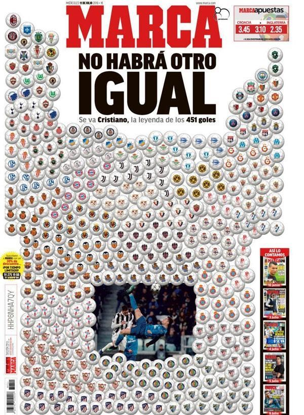 The Portugal international has moved from Real Madrid to Turin, sparking a wave of front page headlines
