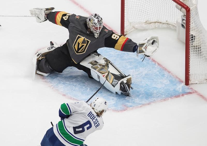 Vegas Golden Knights beat Vancouver 3-0, knock Canucks out of NHL playoffs