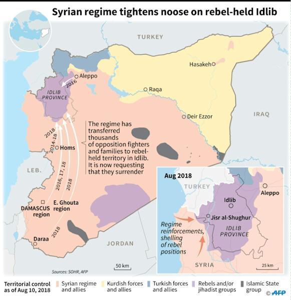 Syrian regime tightens noose on rebel-held Idlib