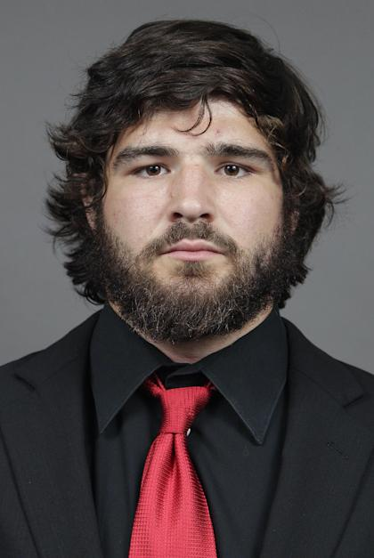 FILE - In this Sept. 11, 2013, file photo provided by Ohio State university shows college football player Kosta Karageorge in Columbus, Ohio. A coroner says Karageorge, an Ohio State athlete who committed suicide suffered previous concussions but didn't show evidence of brain disease. (AP Photo/Ohio State University, Jay LaPrete, File)