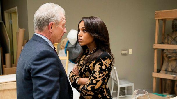 PHOTO: Jeff Perry as Cyrus Beene and Kerry Washington as Olivia Pope in a scene from 'Scandal.' (Mitch Haaseth/ABC)