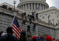 FILE PHOTO: Supporters of U.S. President Donald Trump protest outside the Capitol in Washington