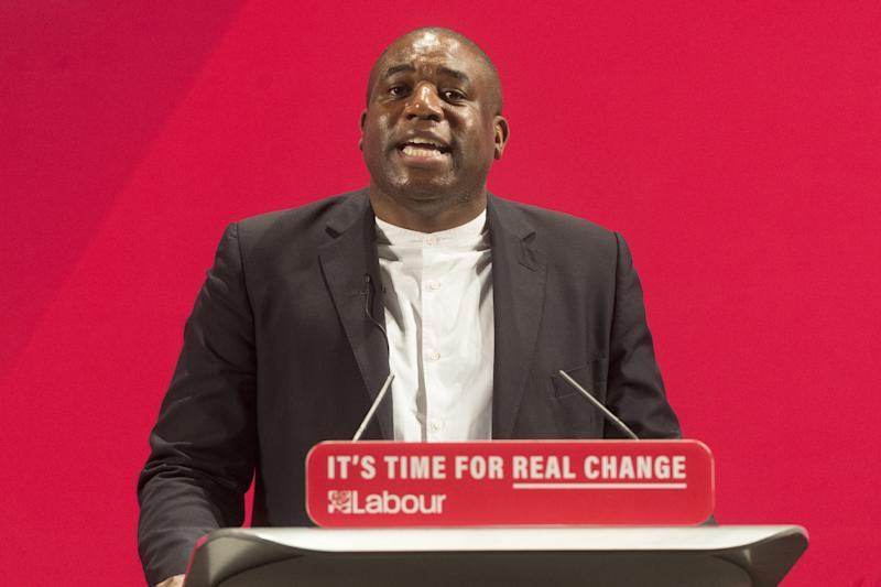 LONDON, UNITED KINGDOM - NOVEMBER 26: British Labour party politician David Lammy MP speaks at the launch of the 'Race and Faith' general election manifesto in London, United Kingdom on November 26, 2019. (Photo by Ray Tang/Anadolu Agency via Getty Images)