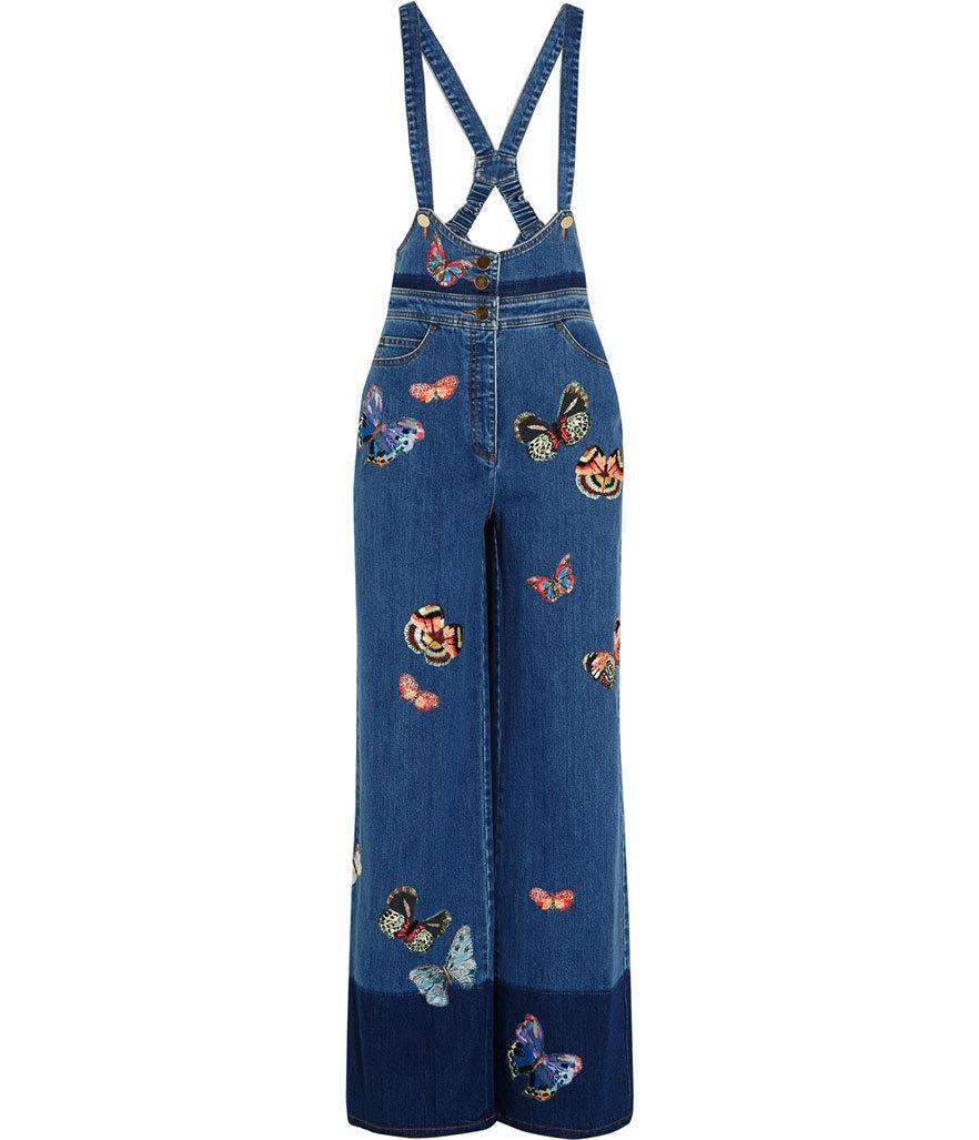 """<p>Valentino embroidered denim bib overalls, $4590, <a href=""""http://www.valentino.com/us/skirts-and-pants_cod42481104if.html"""" rel=""""nofollow noopener"""" target=""""_blank"""" data-ylk=""""slk:Valentino"""" class=""""link rapid-noclick-resp"""">Valentino</a></p>"""