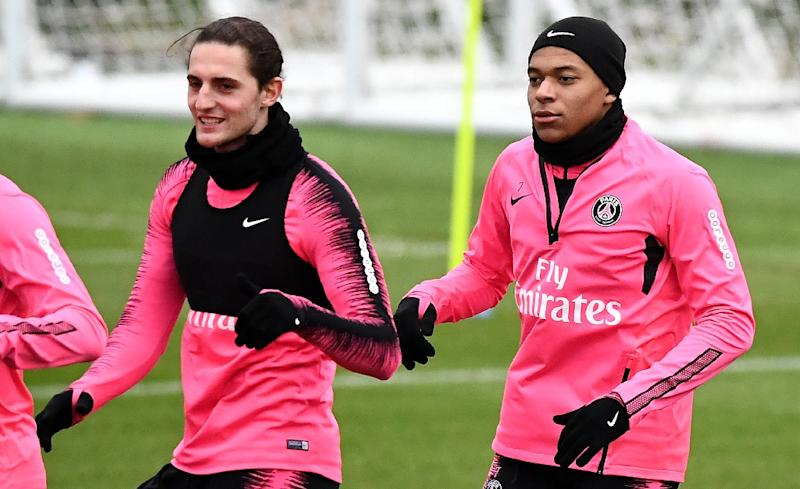 Adrien Rabiot (left) suspended by PSG