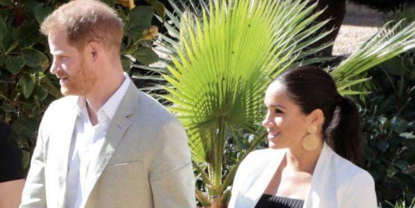 Meghan Changed Into the Chicest Little Black Dress to Leave Morocco