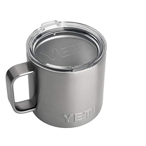 YETI Rambler 14 oz Stainless Steel Vacuum Insulated Mug with Lid, Stainless (Amazon / Amazon)