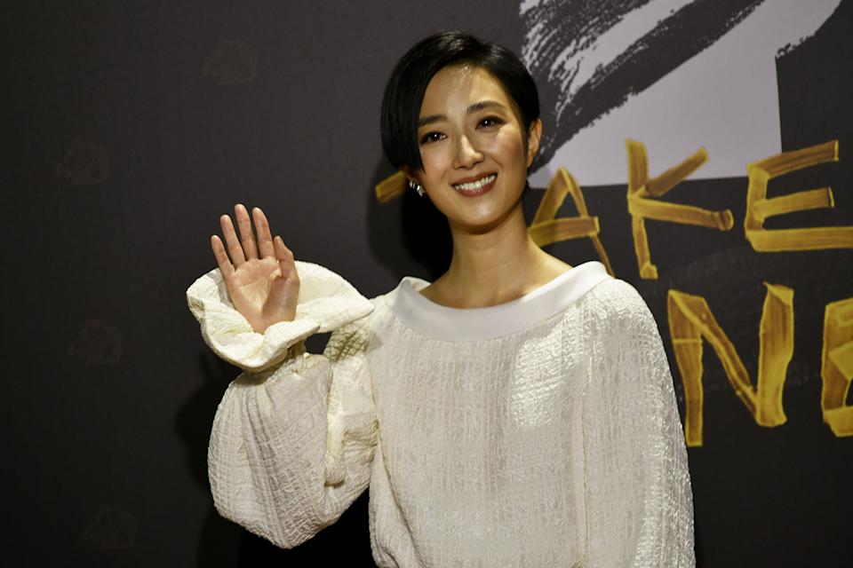 Taiwanese actress Kwai Lun-mei arrives on the red carpet at the 57th Golden Horse film awards, dubbed the Chinese 'Oscars', in Taipei on November 21, 2020. (Photo by SAM YEH / AFP) (Photo by SAM YEH/AFP via Getty Images)