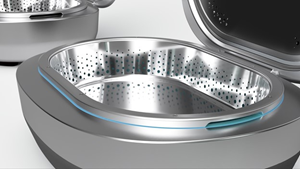 A close up view of the interior chamber of the finalized consumer model design of the dHydronator®.