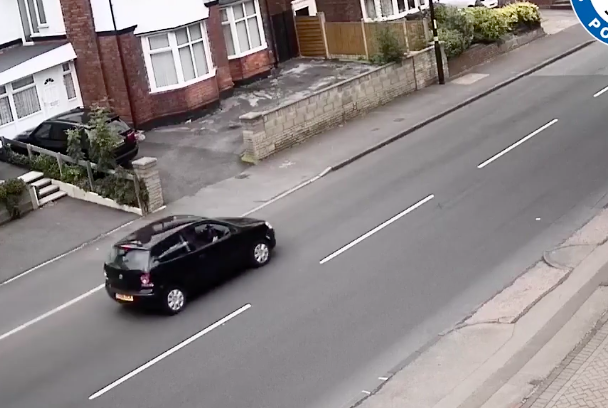The car is shown speeding off in the clip. Police are appealing for information. (West Midlands Police)