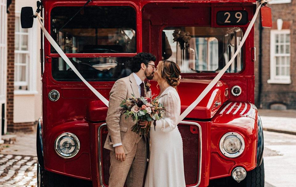 Meet the Marwoods, formerly known as Tom Ward and Laura Moorwood, who married each other on September 10 and merged their surnames - Christophe Bourgeois