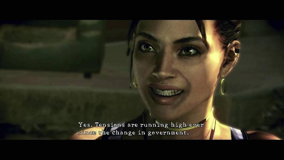 """Resident Evil's Sheva says, """"Tensions are running high ever since the change in government."""""""
