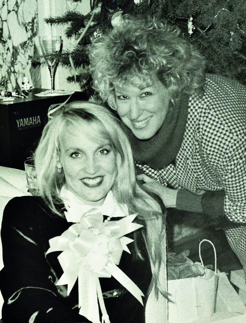 <p>Model Jerry Hall (with Bette Midler) was surrounded by friends for her baby shower at her home in New York on December 19, 1983. </p>
