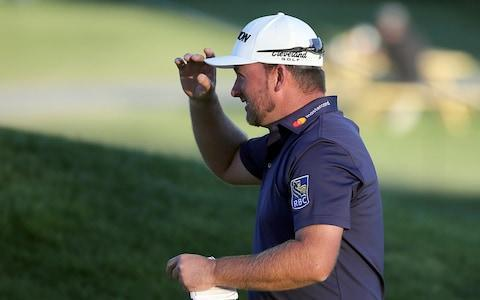 "<span><a class=""link rapid-noclick-resp"" href=""/pga/players/4127/"" data-ylk=""slk:Graeme McDowell"">Graeme McDowell</a>, of Northern Ireland, walks off the ninth green after completing the second round of the Genesis Open golf tournament at Riviera Country Club </span> <span>Credit: AP </span>"
