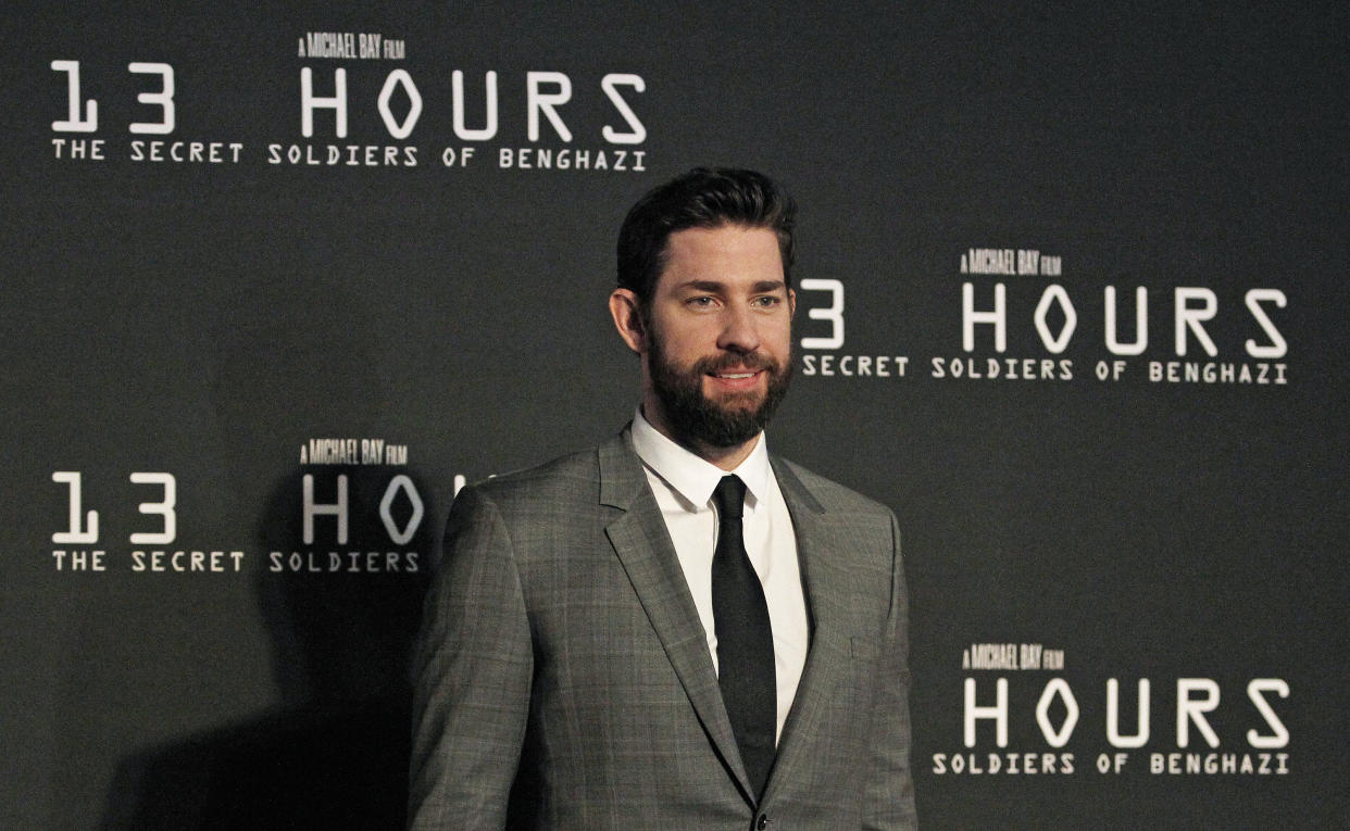 Krasinski says his family's military ties inspired him to star in 13 Hours: The Secret Soldiers of Benghazi. (Photo: Paul Moseley/Fort Worth Star-Telegram/Tribune News Service via Getty Images)