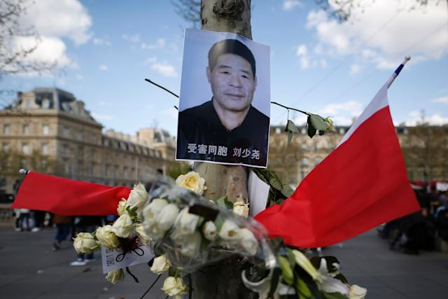 Paris Asian Chinese community protests