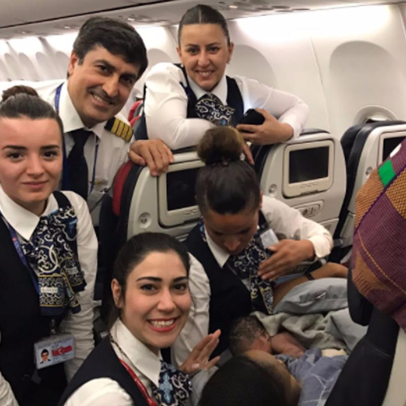 What 1 Airline Crew Did When a Mom Went Into Labor at 28 Weeks Mid-Flight