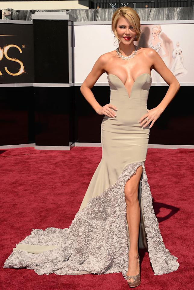 Brandi Glanville attends the Oscars at Hollywood & Highland Center on February 24, 2013 in Hollywood, California.