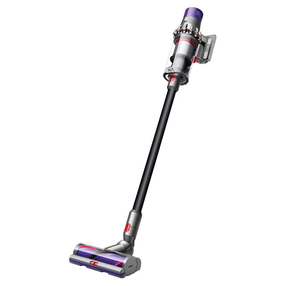 """The Dyson Cyclone is an investment, but it lives up to the hype: Reviewers rave about the """"phenomenal machine"""" and its impressive pickup performance—plus its powerful digital motor that has no trouble tackling pesky debris buried deep in your carpet and promises up to 60 minutes of fade-free power. $600, Amazon. <a href=""""https://www.amazon.com/Dyson-Cyclone-Lightweight-Cordless-Cleaner/dp/B0798LCJK9"""" rel=""""nofollow noopener"""" target=""""_blank"""" data-ylk=""""slk:Get it now!"""" class=""""link rapid-noclick-resp"""">Get it now!</a>"""