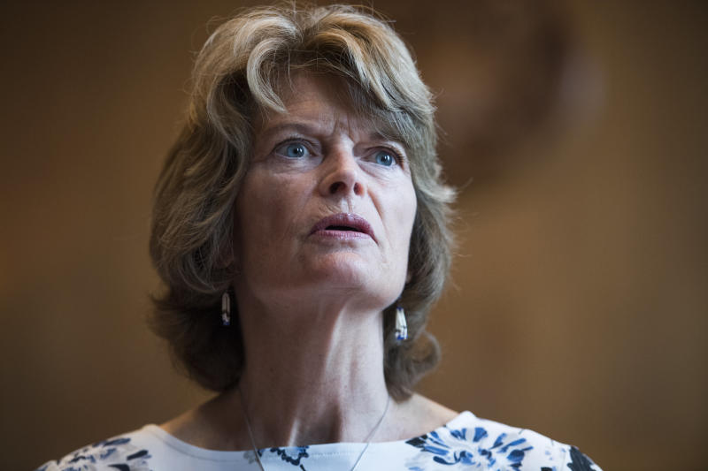 Sen. Lisa Murkowski (R-Alaska) has not said how she'll vote on Supreme Court nominee Brett Kavanaugh.  (Tom Williams via Getty Images)
