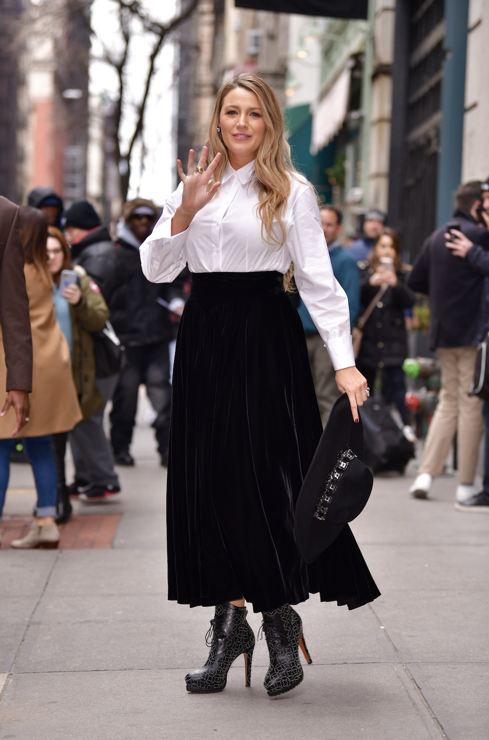 Blake Lively seen on the streets of Manhattan on January 28, 2020, in New York City