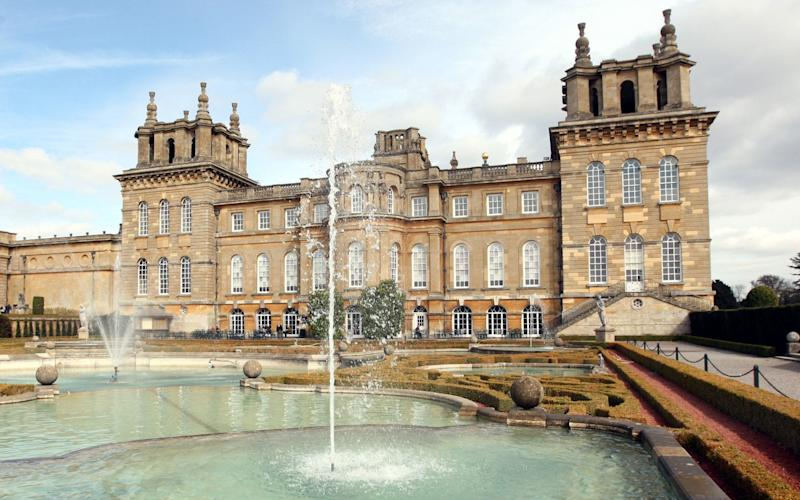Blenheim Palace in Oxfordshire, where the Prime Minister will host President Trump and the First Lady for a black tie dinner - PA