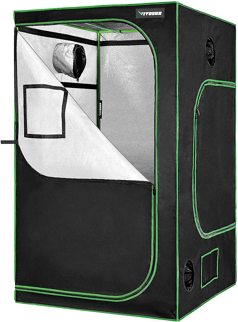 This grow tent is a fortress for your indoor plants. (Photo: Amazon)