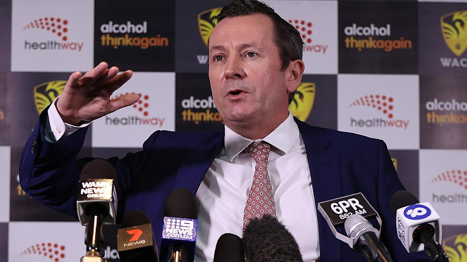 WA Premier Mark McGowan joked about Eddie McGuire's application for an exemption to enter the state during a radio appearance on Wednesday. (Photo by Paul Kane/Getty Images for Cricket Australia)