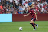 <p><strong>Position:</strong> midfielder </p> <p><strong>Hometown:</strong> Hanson, MA</p> <p><strong>Club:</strong> North Carolina Courage</p> <p>Mewis was an alternate for the 2016 US Olympic team. This time, she'll be experiencing the Olympics with her older sister, Kristie, by her side. </p>
