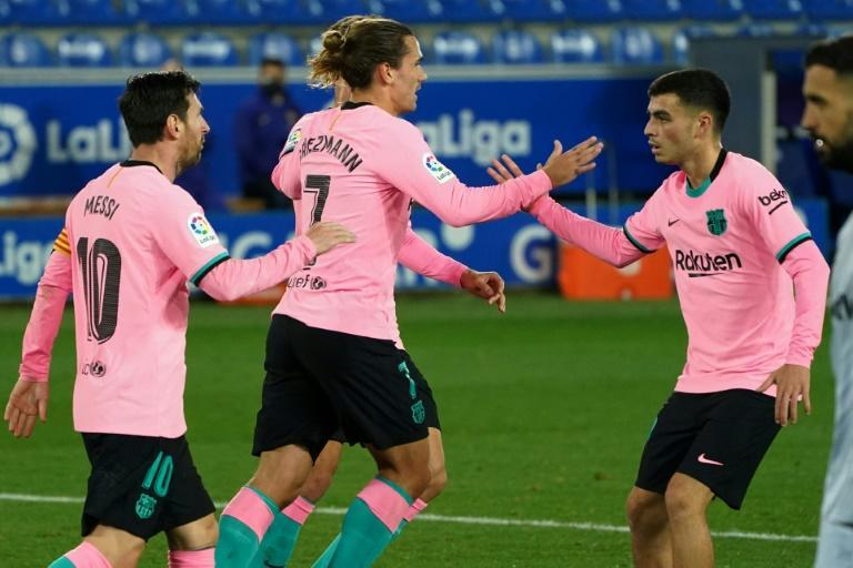 Antoine Griezmann scored Barcelona's equaliser against Alaves in La Liga on Saturday.