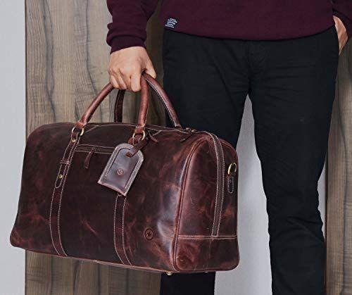 """<p><strong>Aaron Leather Goods Vendimia Estilo</strong></p><p>amazon.com</p><p><strong>118.99</strong></p><p><a href=""""https://www.amazon.com/dp/B07NJRZXJG?tag=syn-yahoo-20&ascsubtag=%5Bartid%7C2140.g.33501922%5Bsrc%7Cyahoo-us"""" rel=""""nofollow noopener"""" target=""""_blank"""" data-ylk=""""slk:Shop Now"""" class=""""link rapid-noclick-resp"""">Shop Now</a></p><p>A sturdy, quality duffle bag is a necessity. Opt for this one, made of leather for a vintage look.</p>"""