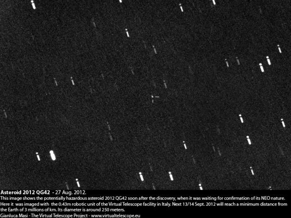 Asteroid 2012 QG42 soon after its discovery.
