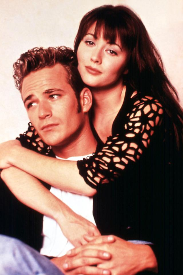 """<p>Shannen Doherty, who played Perry's love interest on <em>90210</em>, <a href=""""https://people.com/tv/luke-perry-stroke-shannen-doherty-fights-back-tears/"""">got emotional</a> talking about Perry's stroke, which occurred on Feb. 27, 2019. """"I love him, and he's going to be great,"""" she said days before the actor <a href=""""https://people.com/tv/luke-perry-dead-beverly-hills-90210-riverdale-actor-dies/"""">passed away</a> on March 4.</p>"""