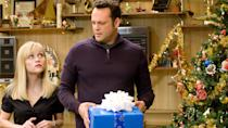 It's another slapstick-heavy tale as Vince Vaughn and Reese Witherspoon portray a couple struggling to visit all four of their divorced parents in order to keep the entire family happy. (Credit: Warner Bros)