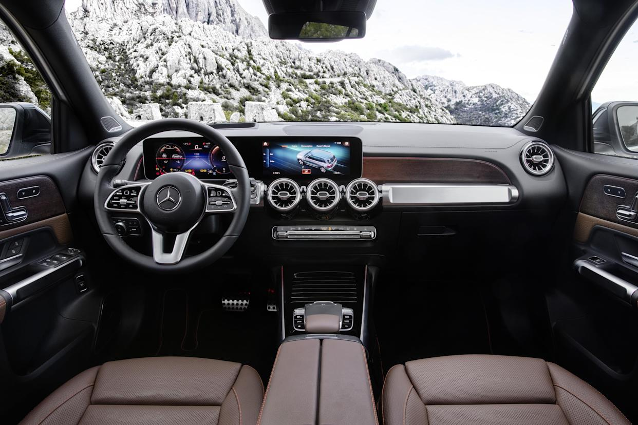 The GLB gets Mercedes' latest MBUX infotainment