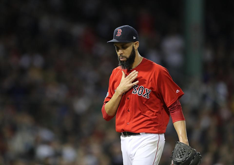 Boston's David Price didn't last two innings on Saturday night vs. the New York Yankees. (Getty Images)