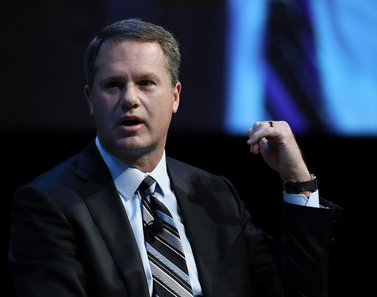 Doug McMillon, president and CEO of Walmart Inc. Corporation, announced the retail giant would end sales of some ammunition after a deadly shooting last month at a Texas store (AFP Photo/MARK WILSON)