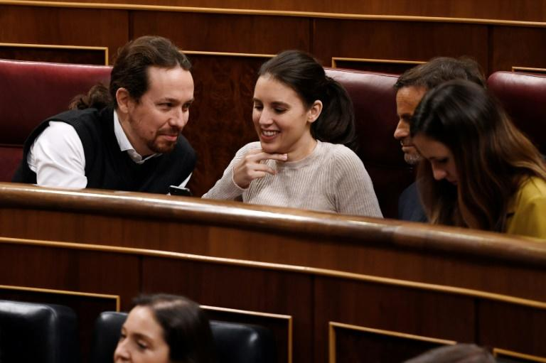 The draft legislation to change Spain's rape laws was tabled by Equality Minister Irene Montero of the hard-left Podemos, which is headed by Pablo Iglesias (left): in life, the pair are a couple