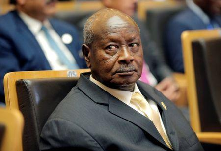 Uganda's President Yoweri Museveni attends the 30th Ordinary Session of the Assembly of the Heads of State and the Government of the African Union in Addis Ababa