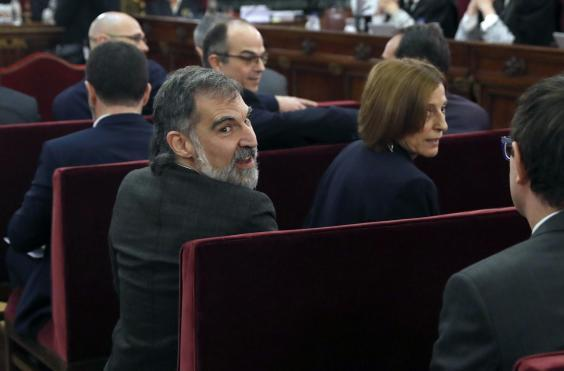 Jordi Cuixart at the beginning of his trial in February (Getty)