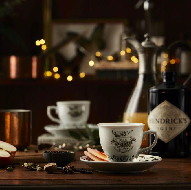 "This one packs a punch. Simmer 750ml apple juice with 2 cloves, 2 crushed cardamom pods, 2 star anise, Juniper berries and the peel of 1 orange. Add 150ml <a href=""https://www.amazon.co.uk/Hendricks-Gin-9-HG-001-44-70-cl/dp/B004LLZP3Q/ref=sr_1_1?dchild=1&keywords=Hendrick%E2%80%99s+Gin&qid=1605624741&s=grocery&sr=1-1&tag=hearstuk-yahoo-21&ascsubtag=%5Bartid%7C1919.g.34687711%5Bsrc%7Cyahoo-uk"" rel=""nofollow noopener"" target=""_blank"" data-ylk=""slk:Hendrick's Gin"" class=""link rapid-noclick-resp"">Hendrick's Gin</a>, before straining into a tankard or teacup, and garnishing with three slices of apple and a dusting of nutmeg. A nice alternative to mulled wine. <br>"